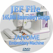 Embroidery design 145,000 + JEF Files Janome Machine Compatible