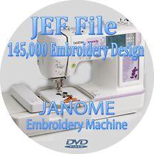 Embroidery design 145,000 + JEF Files Janome Machine Compatible