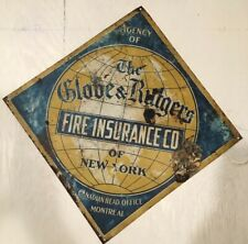 Agency of the Globe & Rutgers Fire Insurance Company Of NY-Montreal Office Sign