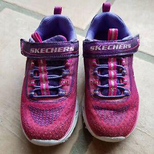 Skechers Kinder Schuhe Herbst Mädchen Größe 28 lila pink mit Blinklicht rechts