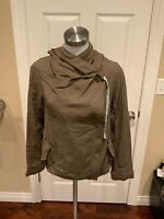 Mystree Gray Green Lightweight Hooded Jacket, Size Small, NWT!