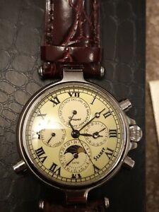 STAUER Graves 33 Gold  Designer Precision Wrist Timepiece Automatic not working