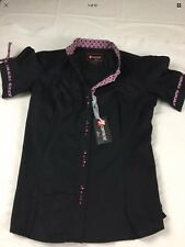 7CAMICIE WOMENS SHORT SLEEVE STRETCH SHIRT SIZE XS/38 BNWT