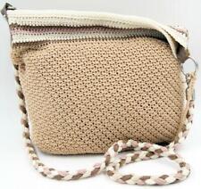 The Sak Crochet Large Hobo women's Beige Shoulder/Crossbody bag