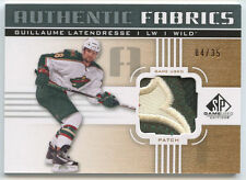 GUILLAUME LATENDRESSE 2011-2012 SP AUTHENTIC FABRICS 3-COLOR PATCH 4/35