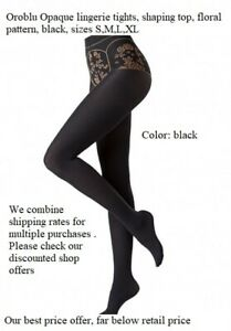 Oroblu My Sensuel 60 denier lingerie tights, fashion top with floral pattern