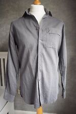 PAUL SMITH classic fit grey pinstripe lightweight shirt M
