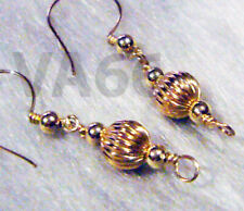 14k Gold Filled Wire Wrap Earrings Bali Bead Ball Single Layer Anting Suasa Bola