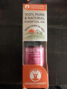 Rose Water Essential Oil GuruNanda Therapeutic Aromatherapy 100 % pure .5 Oz