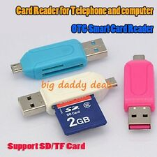 ✔✔Super Micro USB OTG Card Reader Micro SD/SD OTG Cable Smart USB Card Reader✔✔