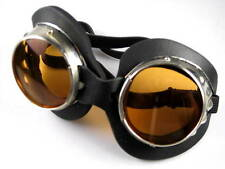Burning Man metal goggles goggle set pair orange & tinted lenses UV400 Cosplay