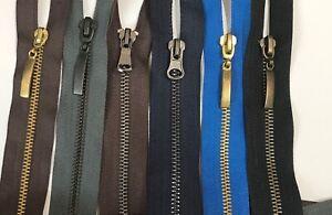 Open Ended Metal Black ,Blue ,Brown Navy ZIP  15 cm to 80 cm Metal ZIp