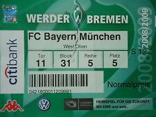 TICKET 2008/09 SV Werder Bremen - Bayern München