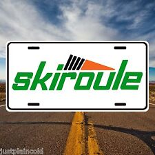 Skiroule vintage snowmobile licence plate vents