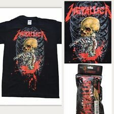 BRAND NEW METALLICA Size S Alien Birth Skull Ribs Metal Official Band T-Shirt