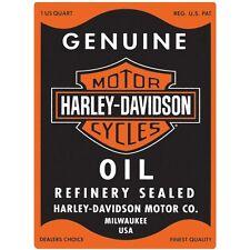 "Harley Davidson ""Oil Can"" Embossed Enamel Tin Metal Sign Motorcycle 631"