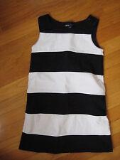 Gap Kids black & white STRIPED DRESS modern mod classic retro vtg top girl S 6 7