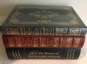 easton press Signed US Presidents NIXON BUSH 3 vols Memoirs FREEDOM All the Best