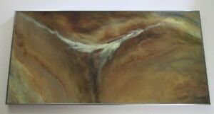 FINEST NICHOLAS MIRANDON PAINTING ABSTRACT SPACE NATURE ORGANIC VINTAGE SURREAL