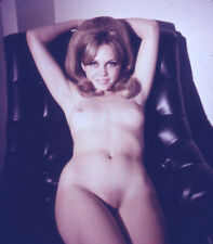 Vintage Stereo Realist Photo 3D Stereoscopic Slide NUDE Mod on Chair Elbows Up
