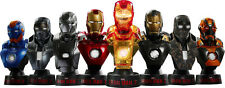 IRON MAN 3 - Hot Toys Deluxe 1/6th Scale Series 2 Collectible Bust Set (8) #NEW