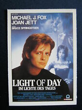 Filmplakatkarte cinema   Light of Day   Michael J.Fox