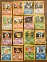 Pokemon Base Set - All Uncommon Cards, Charmeleon, Magmar, Porygon Ect - Choose
