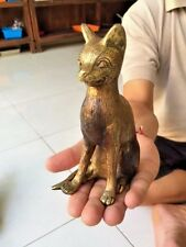 Cat Bronze Statue Sculpture Figure