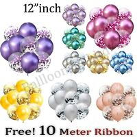 "10-100 pcs12"" Metallic Pearl Confetti Latex Balloons for Wedding Birthday Party"