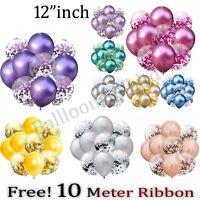 "10-100 pcs12"" Metallic Pearl Confetti Latex Balloons for Wedding Birthday Party"