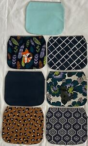 Thirty-One Studio Exchangeable Flap Lot Leopard Print Fox & Raccoon Embroidered