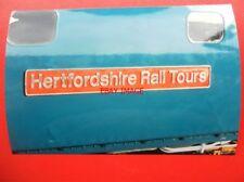 PHOTO  NAMEPLATE - HERTFORDSHIRE RAIL TOURS CLASS 33 LOCO NO 33116