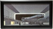 Star Wars DEATH STAR SPACECRAFT HANGER FRAMED CONCEPT PRINT McQuarrie 1977
