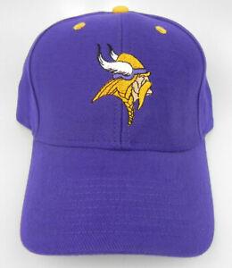 MINNESOTA VIKINGS NFL FOOTBALL PURPLE REEBOK REPLICA ADJUSTABLE CAP HAT NEW!