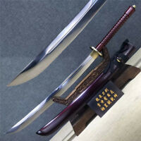 Unique Broadsword Saber Dao Sword Sharp Spring Steel Blade Steel Handle Wood She
