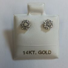 Diamond Earrings - 0.15 CTW set in 14K Yellow Gold