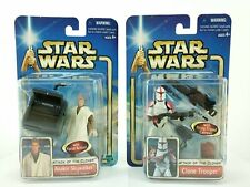 Star Wars Attack of the Clones Action Figure Lot 2pc #1 Anakin #17 Clone Trooper