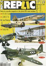 REPLIC N°129 BF 108 B TAIFUN / CAMS 37 A / JEAN DEMOZAY / FIREFLY MK L