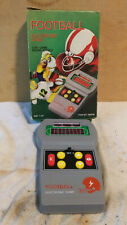 Vintage 1970s Electronic Football Handheld LED Video Game w/box 705216 Hong Kong