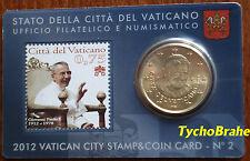 STAMP & COIN CARD (50 cent) VATICANO 2012 VATICAN BU - Coincard John Paul I N°2
