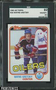1981-82 Topps Hockey #16 Wayne Gretzky Oilers HOF SGC 92 NM-MT+ 8.5
