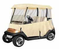 PyleSports Deluxe 4 Sided Golf Cart Enclosure 2 Pass, Fits Carts up to 66'' LTan