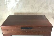 Vtg Wood Silverware Storage Chest 1881 Rogers Silver Plate Tarnish Resistant