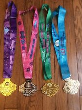 Run Disney 2014-2018  ~  Enchanted 10K Metal Medals ~ Princesses Half Marathon