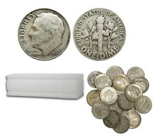 Roosevelt 90% Silver Dimes 100 Coins $10 Face Value Avg. Circ.