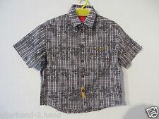ANSEHEN # ESPRIT coole HEMD Gr. 92 98 grau Kurzarm Jungen Kleidung Sommerhemd