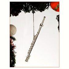 Silver Flute Ornament