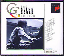 Glenn GOULD: BEETHOVEN Piano Concerto 1 2 3 4 5 STOKOWSKI BERNSTEIN 3CD Leonard