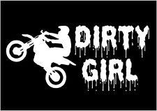 Dirty Girl Dirt Bike Decal Rider car truck window laptop sticker graphic