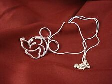 Mickey Mouse Silver Plated Pendant on 19 inch Necklace Mickey Head Icon